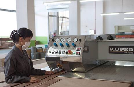 KUPER自动单板纵向拼缝机