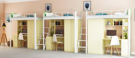 湖南学生宿舍公寓床 上床下桌 让您拥有私人空间