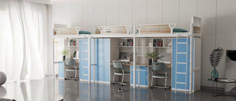 组合式公寓床提升宿舍生活环境品质