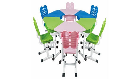 MR-0015多人课桌椅(厂家)