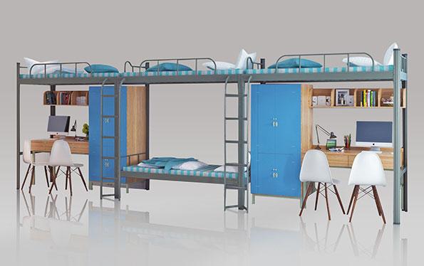 3连4人位-侧梯-学生组合公寓床-MR-34C