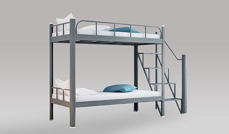 单连2人位-中梯-双层钢架床-MR-D2Z
