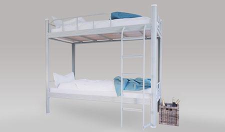 单连2人位-侧梯-双层钢架床-MR-D2C