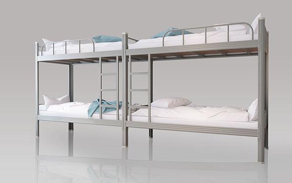 二连4人位-内梯-双层钢架床-MR-24N