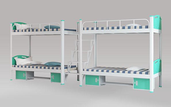 二连4人位-中梯-双层钢架床-MR-24Z