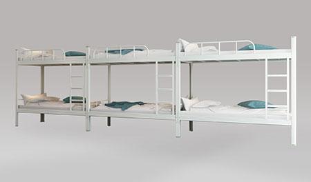 三连6人位-内梯-双层钢架床-MR-36N