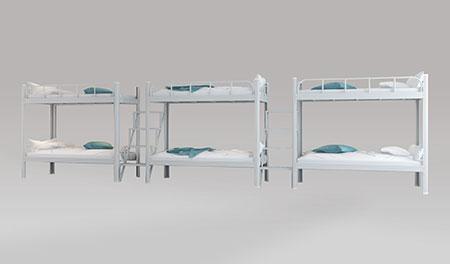 三连6人位-中梯-双层钢架床-MR-36Z