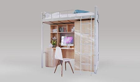 单连单人位-侧梯-组合公寓床-MR-D1C