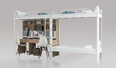 学校宿舍二连3人位-侧梯-学生宿舍公寓床-MR-23C