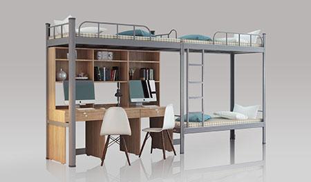 工厂宿舍二连3人位-内梯-员工宿舍高架公寓床-MR-23N