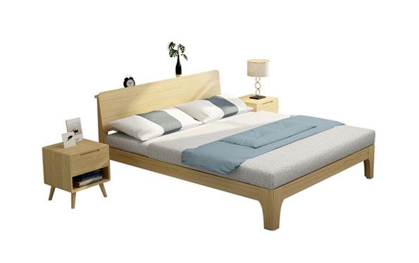 实木单层床