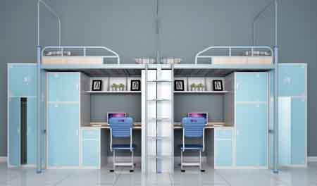 企业宿舍二连2人位-侧梯-员工宿舍公寓床-MR-22C
