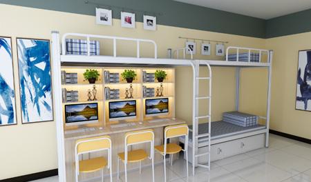 企业宿舍二连3人位-侧梯-学生宿舍公寓床-MR-23C