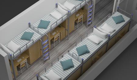 三连3人位-侧梯-组合公寓床-MR-33C