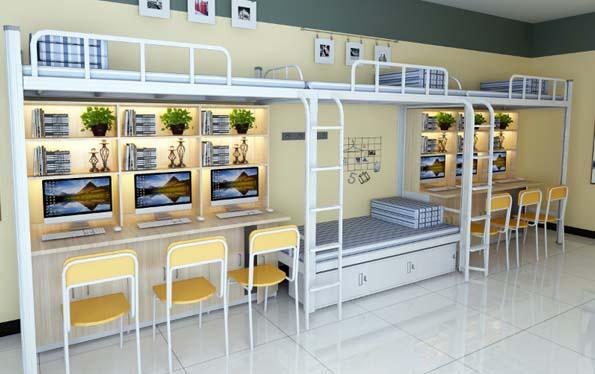 三连4人位-侧梯-组合公寓床-MR-34C