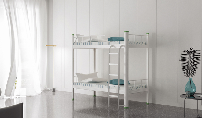 学生宿舍双层钢架床