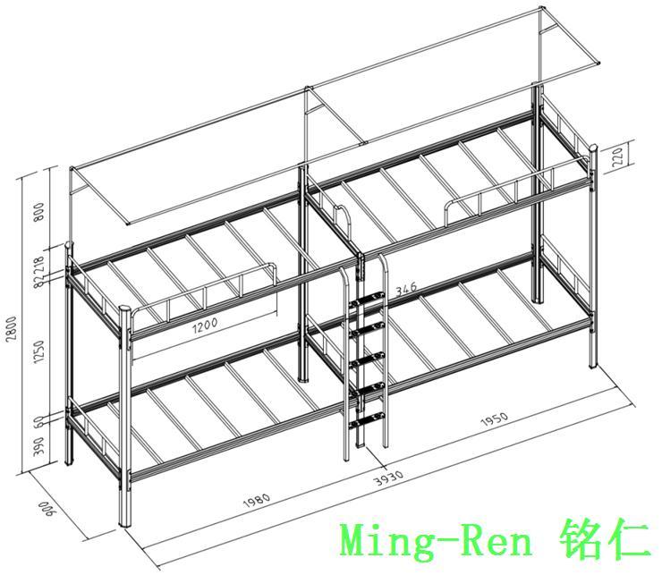 钢结构床设计图纸